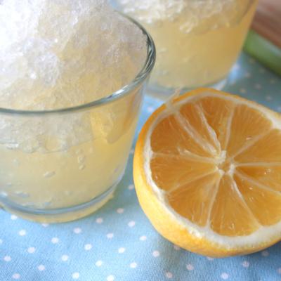 {Blogparade} Zitronen-Minze-Granita