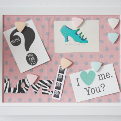 DIY: Magnetisches Memoboard & Pastell-Magnete