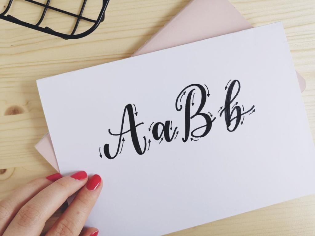 Lettering lernen Fake Calligraphy Technik