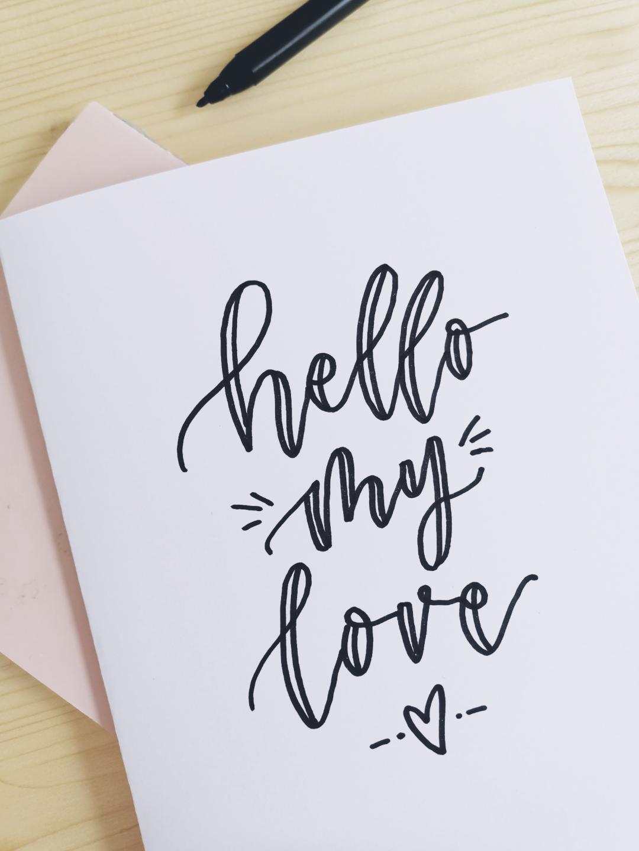 Faux Calligraphy lernen (Schritt für Schritt Anleitung)