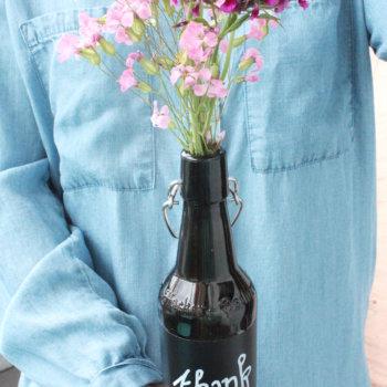 Blumen Verpacken glasflaschen upcycling