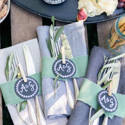 DIY Cheesebar Dekoration für Hochzeiten