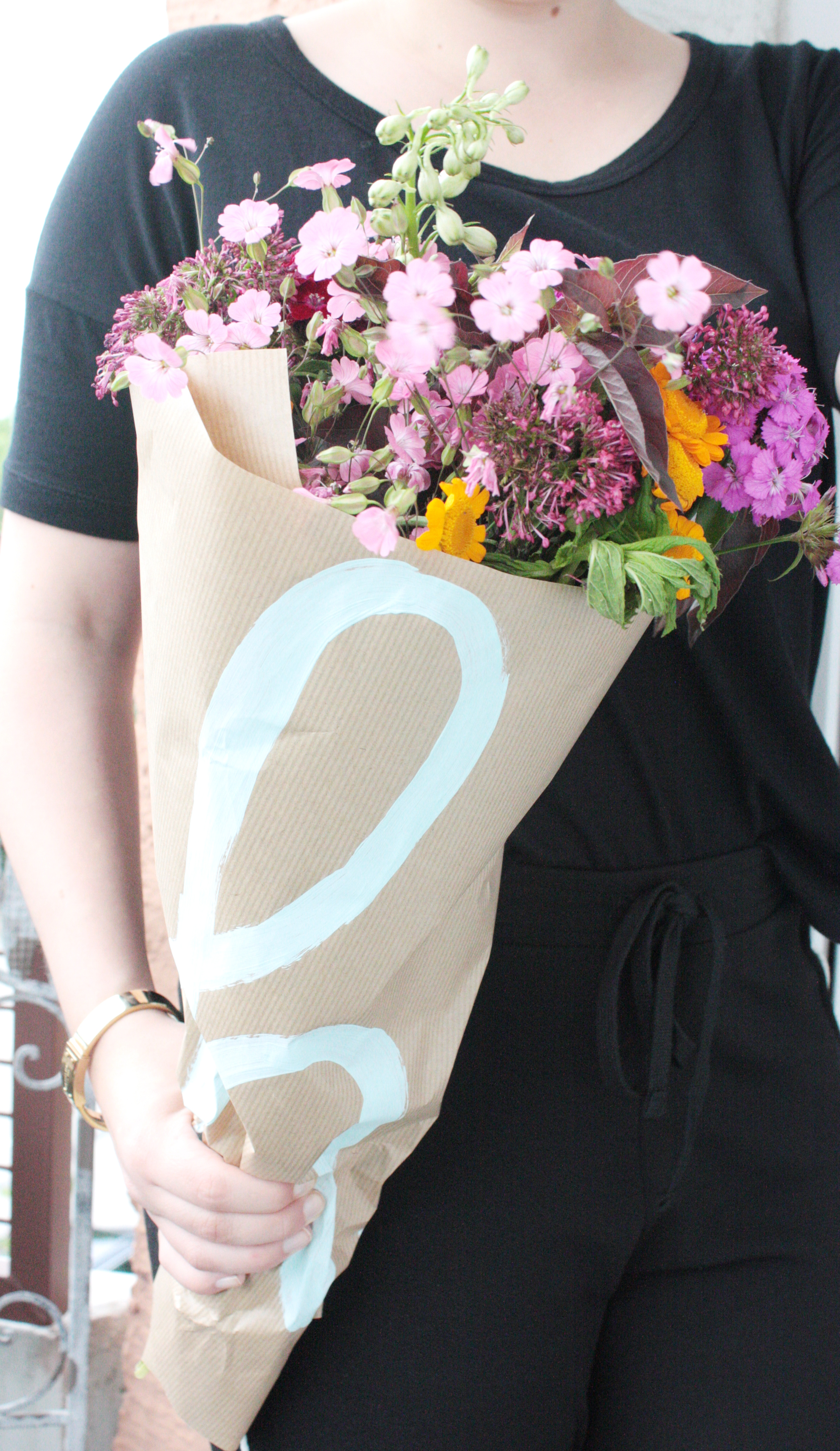 Blumen verschenken und verpacken
