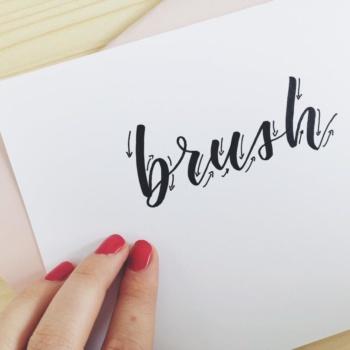 Brush Lettering lernen: Übungen für Anfänger