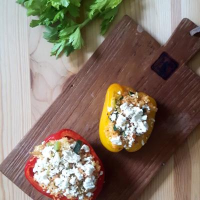 Gesund & lecker: Gefüllte Paprika (vegetarisch)