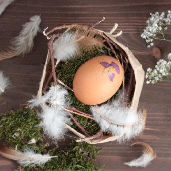 Osternest im Naturstil basteln