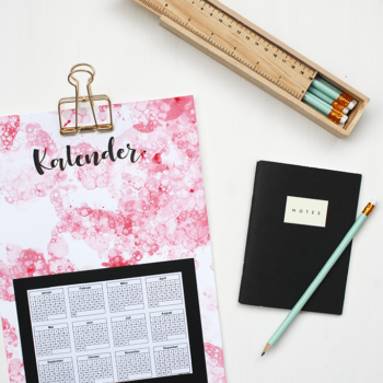 DIY Kalender mit Bubble-Technik gestalten DIY Blog Muenchen