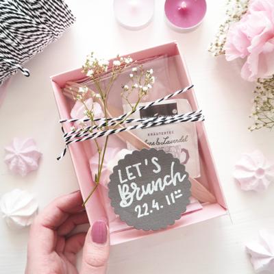 DIY Brunch Einladung in der Pappschachtel selbermachen