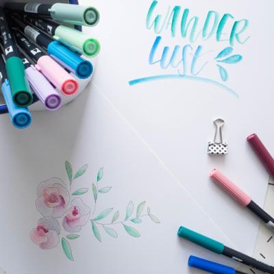 Lettering: Blending mit Brushpens im Aquarell Look (Teil 2)