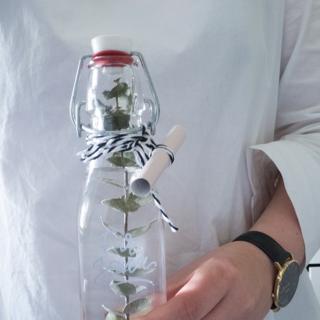 Gutschein verpacken im Skandinavischen Stil Flasche DIY Blog München
