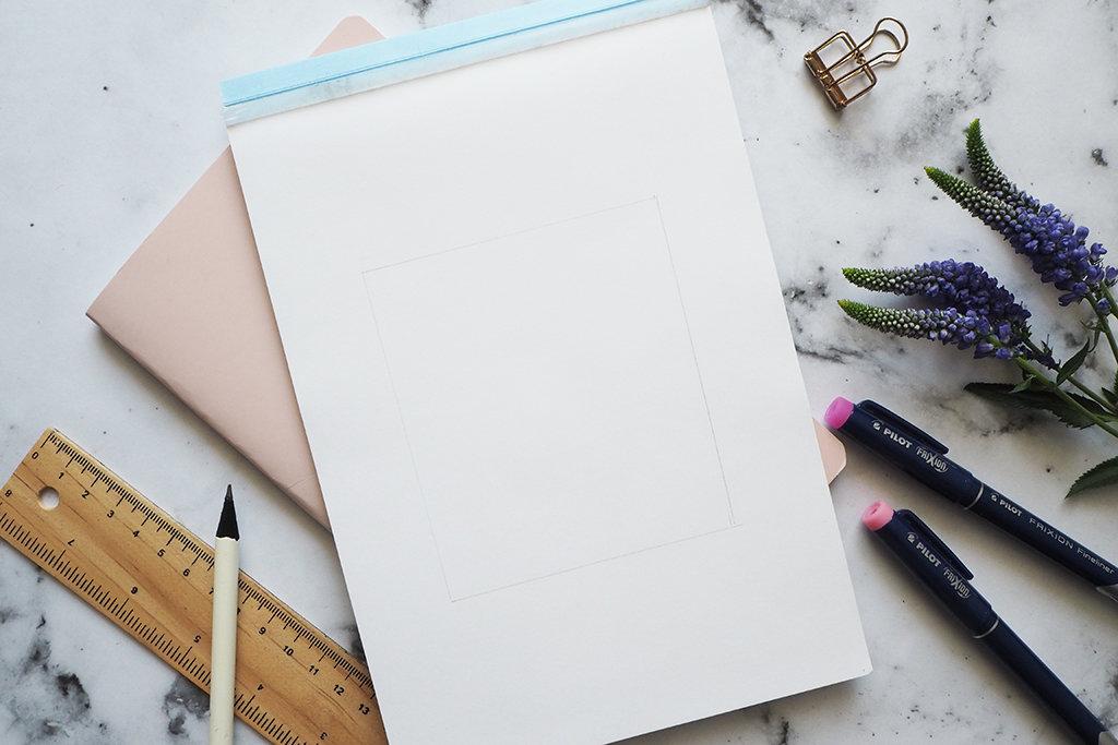 Handlettering Rahmen gestalten für Anfänger