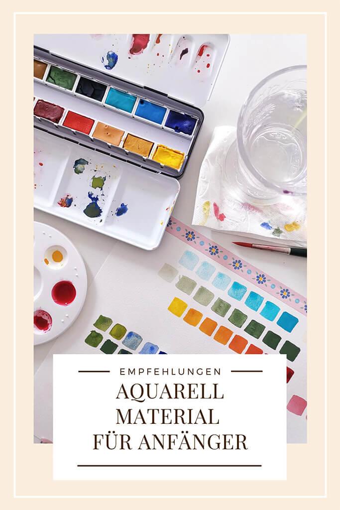 Aquarell MAterial für Anfänger