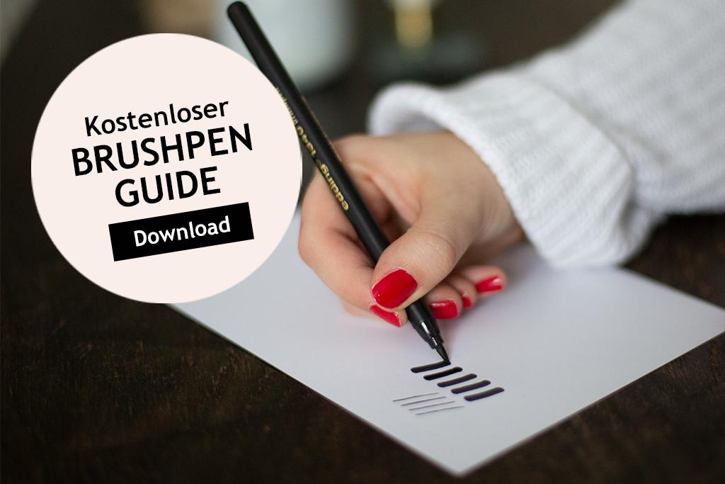 Brushpen Guide Lettering Material
