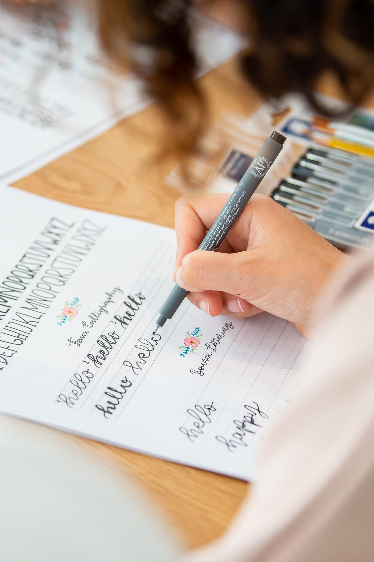 Lettering Material für Anfänger: Das brauchst du wirklich