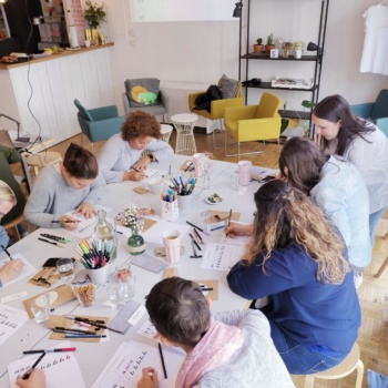 Behind the Scenes meiner Lettering Workshops