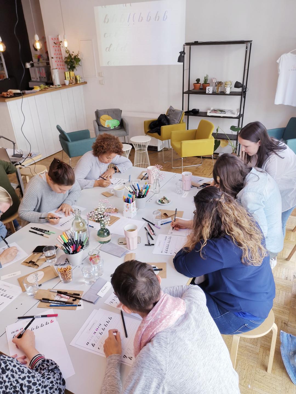 Behind the Scenes meiner Lettering Workshops