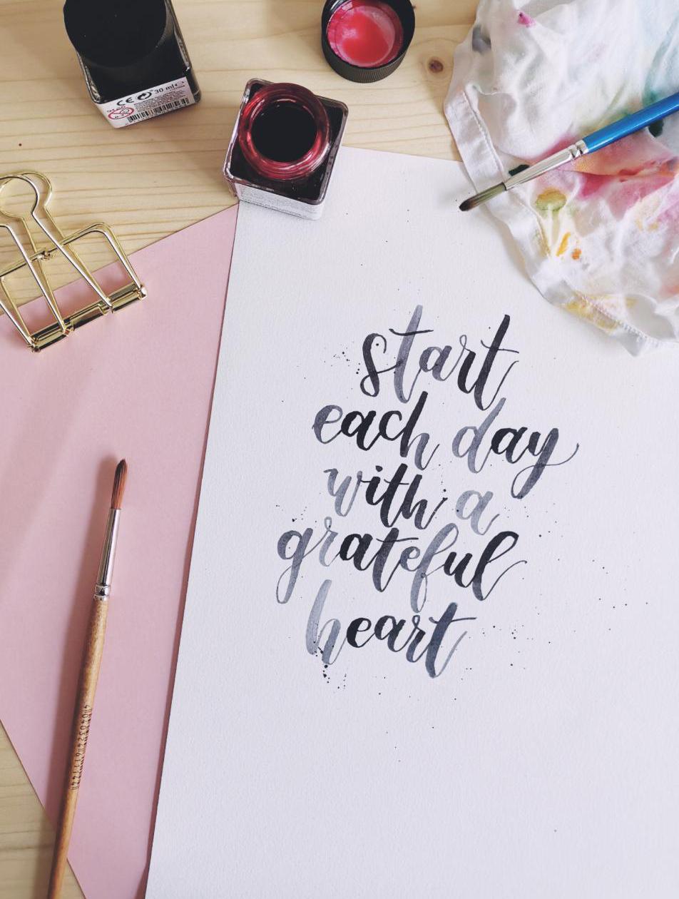 Aquarell Lettering: Wie geht es und was brauche ich?