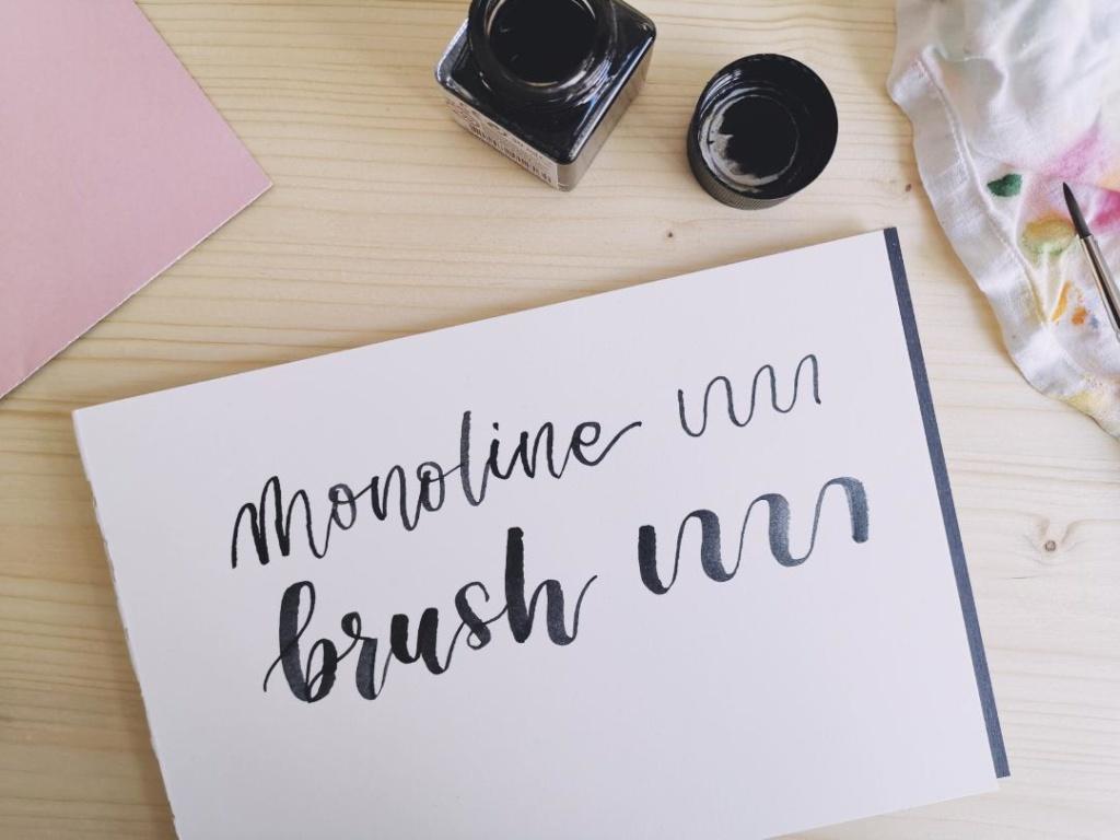 Lettering mit Aquarellfarben Brush Lettering