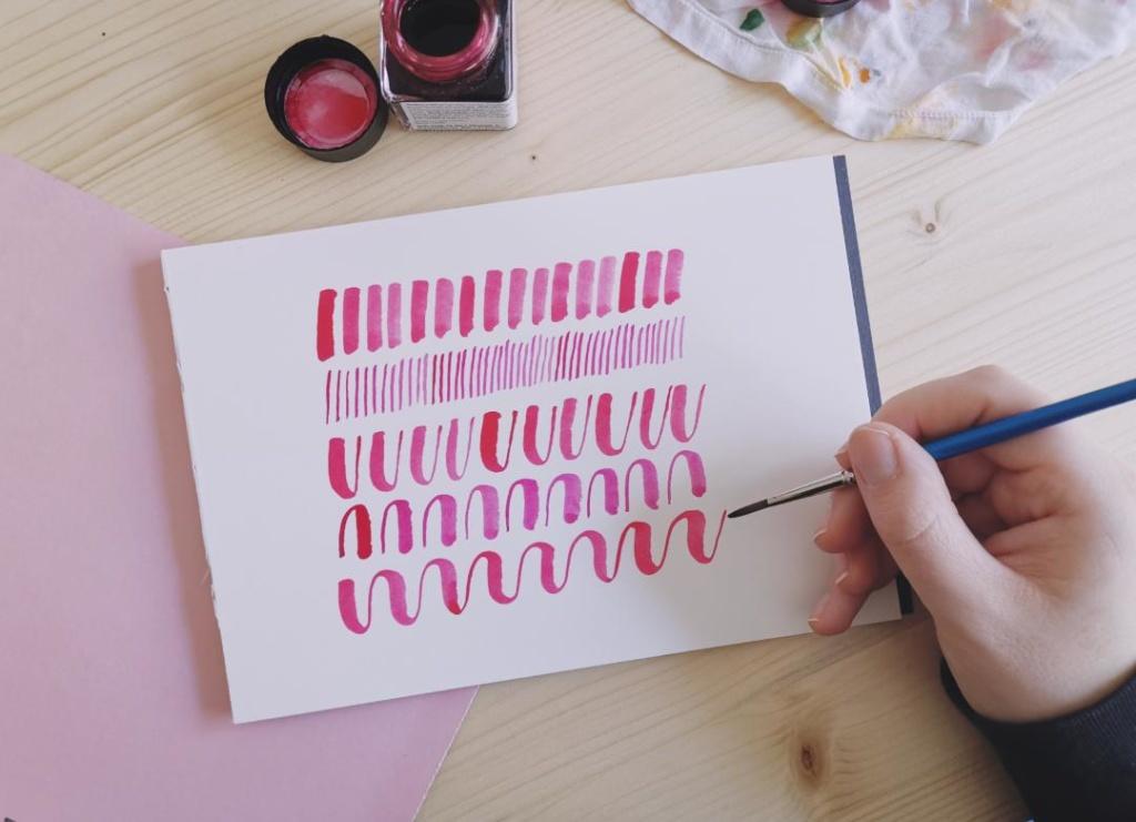 Lettering mit Aquarellfarben Übungen