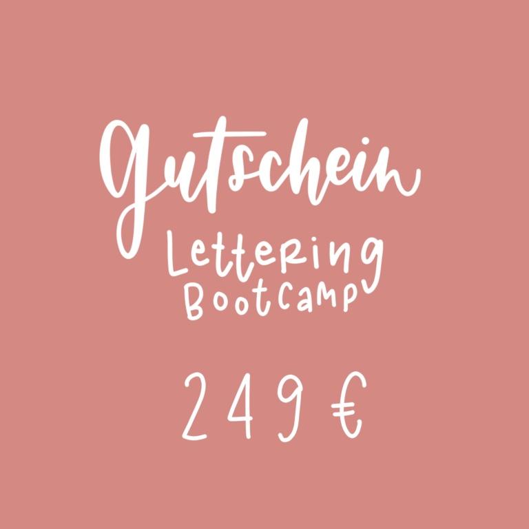 Gutschein Lettering Bootcamp Rosy & Grey