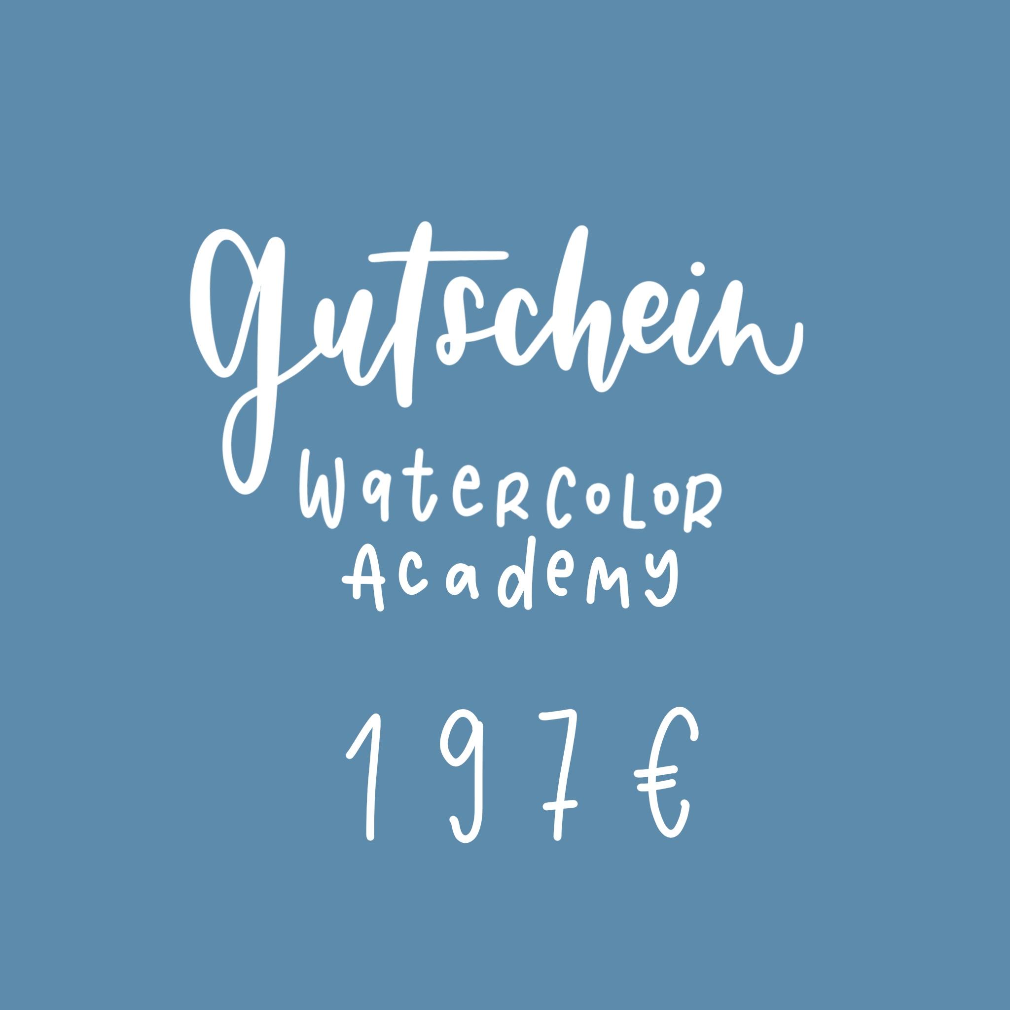 Gutschein Watercolor Academy Rosy & Grey